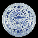 Platter with Fish Pattern
